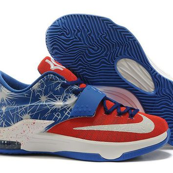 "2017  Nike Zoom KD 7  Kevin Durant 7 Ⅶ ""Captain America""  Basketball Shoes"