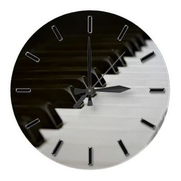Piano Keys music lover wall clock from Zazzle.com