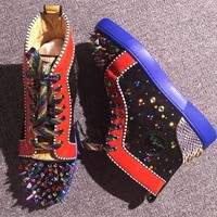 Cl Christian Louboutin Pik Pik Style #1986 Sneakers Fashion Shoes - Best Online Sale