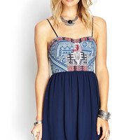 Tribal Print Bustier Dress