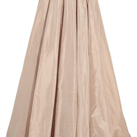 Jenny Packham - Pleated silk-taffeta maxi skirt