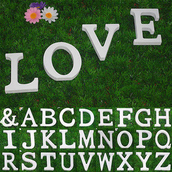 Large 26 Wooden Alphabet Letters/ Wall Hanging/ Nursery Decor/ Alphabet Wall HU