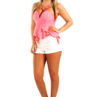 Rhythm Of The Night Top: Neon Pink