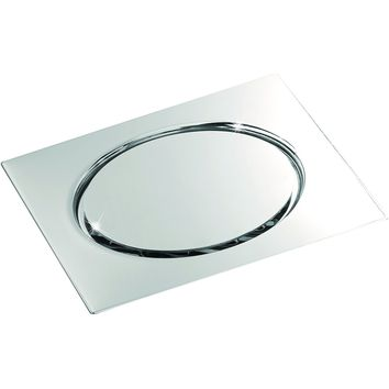 """ME Steel Aisi 304 Shower Floor Drain 5.9""""x5.9"""" Screwed Cover Polished Chrome"""