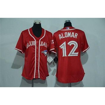 Women's Toronto Blue Jays #12 Roberto Alomar Cool Base Player Jersey
