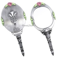 Licensed cool Disney Beauty And The Beast Collectors Replica Metal Enchanted Hand Mirror NEW