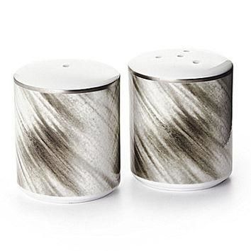 Ralph Lauren Gwyneth China Salt & Pepper Shakers - Silver Grey