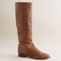 Sutton tall leather flat boots - J.Crew