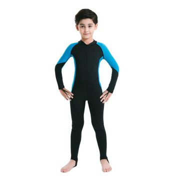 Kids Lycra Swimming Diving One Piece Wear Cooling Boys Girls  Jumpsuit Swimwear Wetsuit Rash Guards High Quality