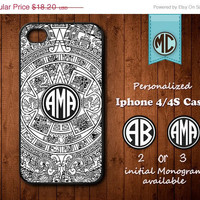 20% SALE Personalized iPhone 4 Case - Plastic iPhone case - Rubber iPhone case - Monogram iPhone case - iPhone 4s case - MC101