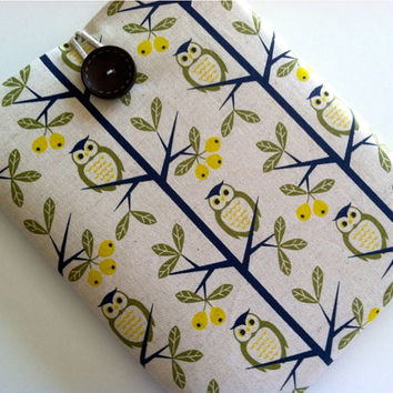 Owl iPad Sleeve iPad 4 Nexus 10 Case Kindle Fire HD 8.9 Cover Padded