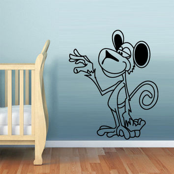 rvz767 Wall Decal Vinyl Sticker Decor Nursery Kids Baby Monkey Ape Cartoon Funny (Z767