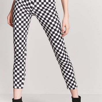 Checker Print Pants