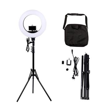 Camera Photo Studio Phone Video 18 inch 55W 480 LED Ring Light 5500K Photography Dimmable Ring Lamp with Tripod Stand