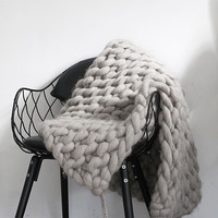 Merino wool knitted blanket / small