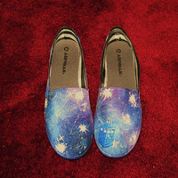 Doctor Who Galaxy Shoes Tardis Glow in the Dark by GeekeryDesigns
