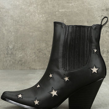 Polaris Black Pointed Mid-Calf Boots