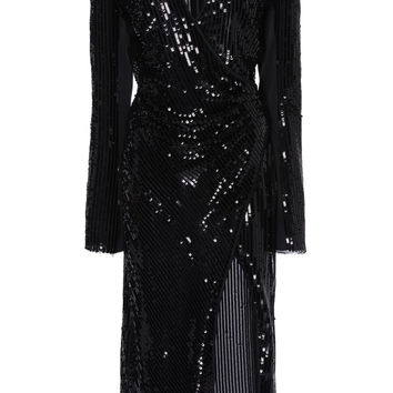 Long Sleeve Sequin Dress | Moda Operandi