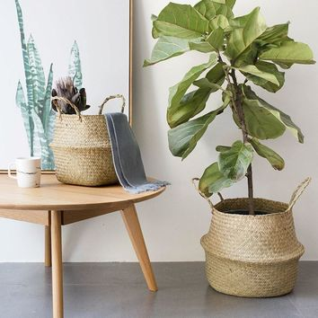 Natural Seagrass Woven Basket