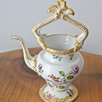 Marx Eugene Clauss, Antique French Porcelain, Small Water Pot