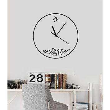 Vinyl Wall Decal Watch Dial Clock Time Home Interior Room Stickers Mural (g2508)