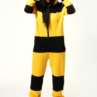 Bella Bumble Bee Hooded Animal Onesuit