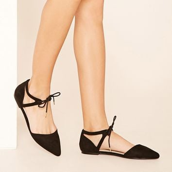 Lace-Up Ankle Strap Flats