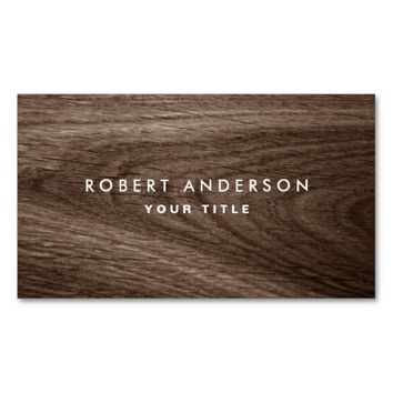 Dark wood grain professional profile Double-Sided standard business cards (Pack of 100)