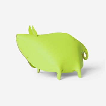 Leather Piggy Bank – Green