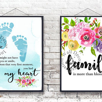 My heart | Family | Adoption Adopt Baby boy | Baby feet | Art Print | Inspiration Poster | Home Decor Print | Printable Quote | Typography