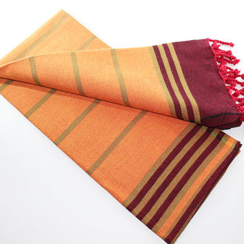 Anatolia | Light Orange | Beach Towel | Peshtemal Towel | Spa | Pareo | Beach Sarong | Turkish Towel | Bridesmaid towel | Trendy