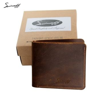 Super Thin Genuine Leather Mens Wallet