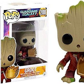 Funko Pop Vinyl Marvel Guardians of the Galaxy Vol. 2 Baby Groot With Shield Exclusive Figure 208