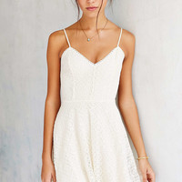 Ecote Lace Fit + Flare Dress - Urban Outfitters