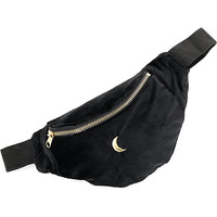 Empyre Velour Moon Black Fanny Pack