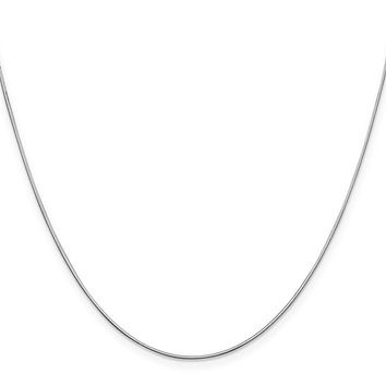 14K White Gold 0.80mm Octagonal Snake Chain Necklace - Fine Jewelry Gift