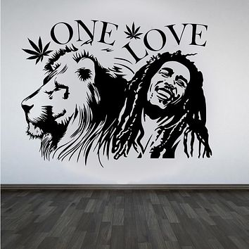 One Love - Bob Marley & Lion Wall Art