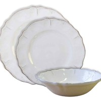 Rustica Antique White Melamine Dinnerware