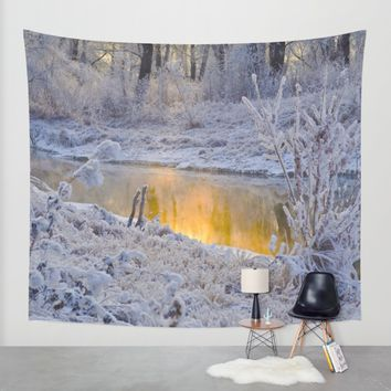 It's Gold Outside Wall Tapestry by Mixed Imagery