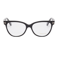 Tom Ford Black Peaked Rim Optical Glasses