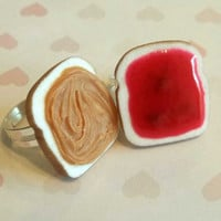 strawberry peanut butter and jelly best friend rings bff
