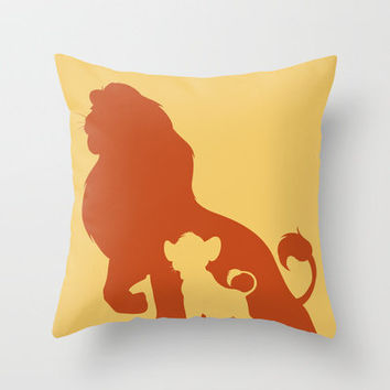The Lion King Throw Pillow by Citron Vert | Society6