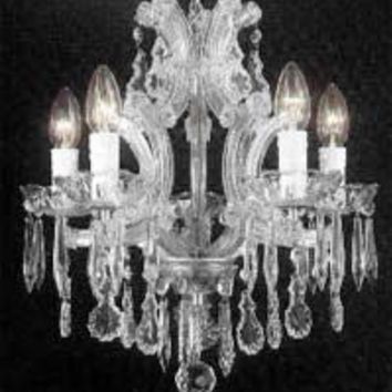 "Maria Theresa Crystal Chandelier Chandeliers H15"" X W15"" - A83-SILVER/1536/4"