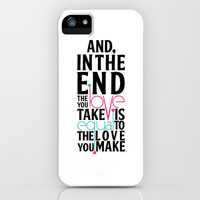 And in the end  iPhone & iPod Case by Jessica Rose Fisher