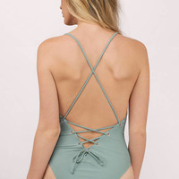 Better Off Lace Up Monokini