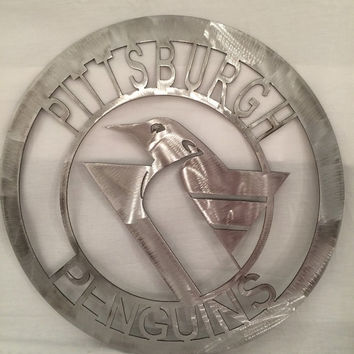 Pittsburgh Penguins wall art, man cave hanging, hockey, team spirit