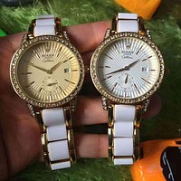 Rolex Women Diamonds Fashion Quartz Movement Watch