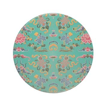 Colorful Vintage Floral on Teal Sandstone Coaster