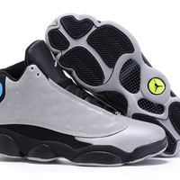 Men's Nike Air Jordan 13 Retro XIII DB Doernbecher Charity Grey Black