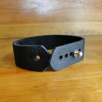 Leather Watch Strap -Black